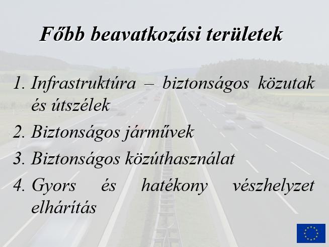 Az Európai Unió közúti közlekedésbiztonsági programjai től napjainkig - Közlekedésbiztonság